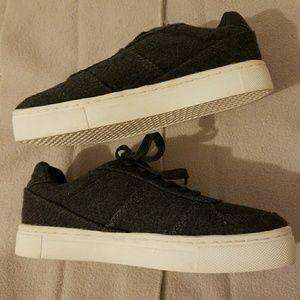 H&M Shoes| Platform Sneakers Gray | U.S.7